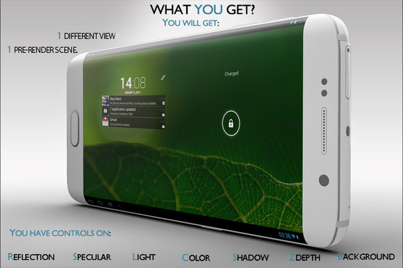 Samsung Galaxy S6 Edge Mock-up Vol.1 - Product Mockups