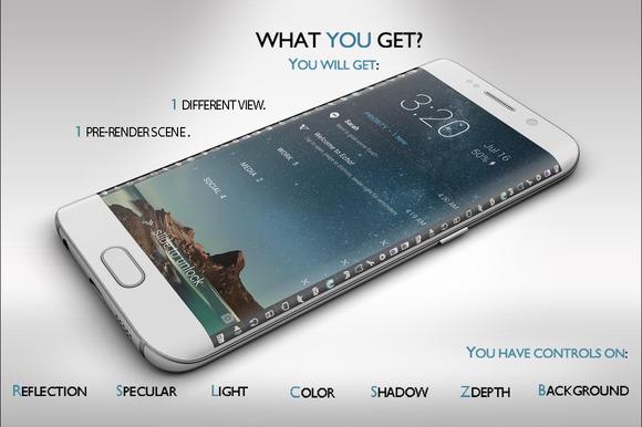 Samsung Galaxy S6 Edge Mock-up Vol.2 - Product Mockups