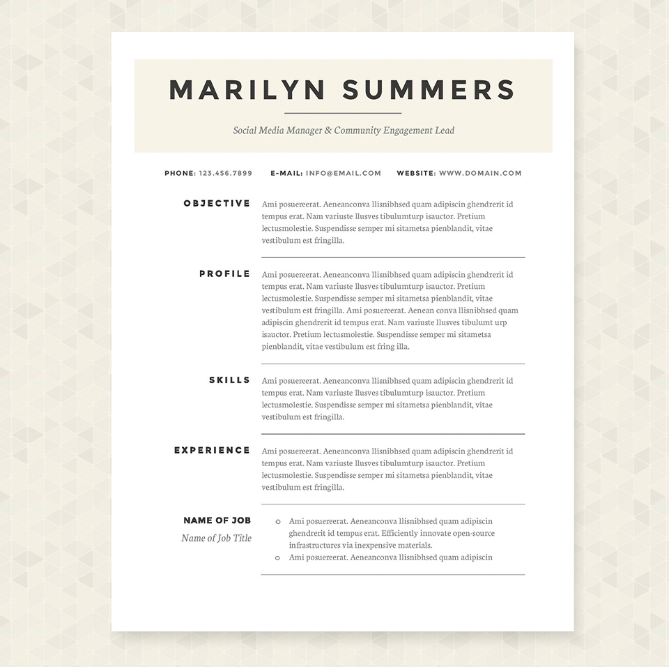64 classic resume format resume template 5 classic