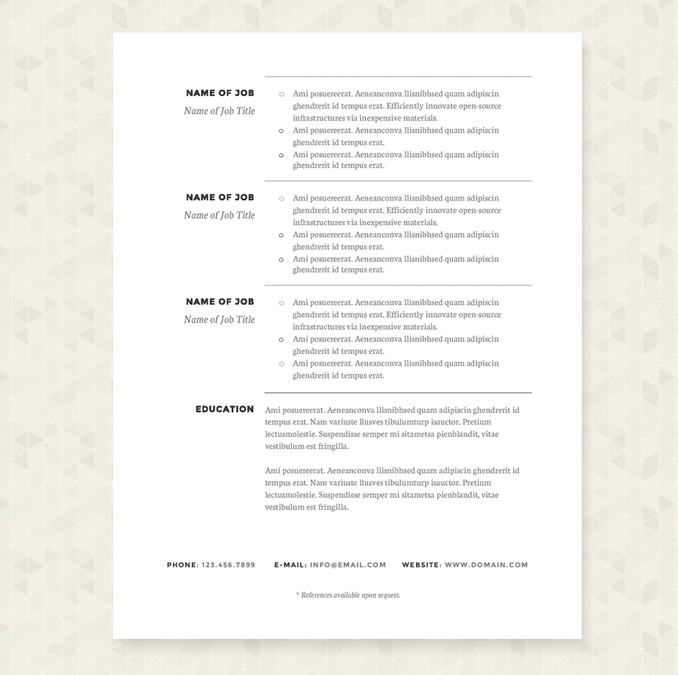 classic resume template package resume templates on creative market