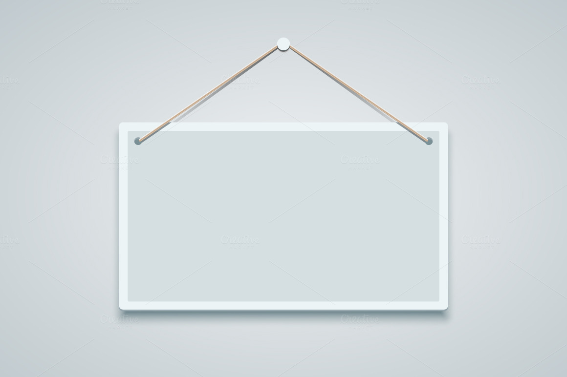 Blank Hanging Sign Board Blank Sign Board Hanging on