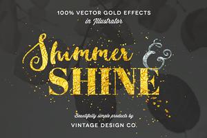Shimmer & Shine: 100% Vector Gold
