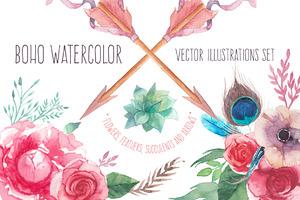 Boho watercolor