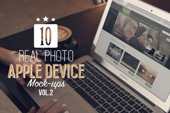 10 Real Photo Apple Mock-Ups Vol.2 - Product Mockups