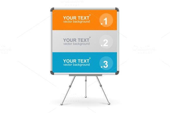 Vector colorful board. Option banner - Illustrations