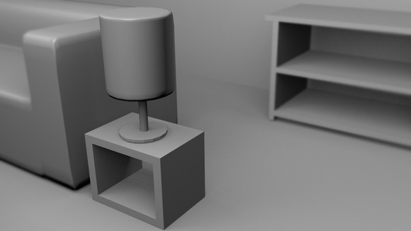 A Lamp 3D Rendered