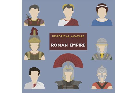Set of historical avatars. Roman Emp - Objects