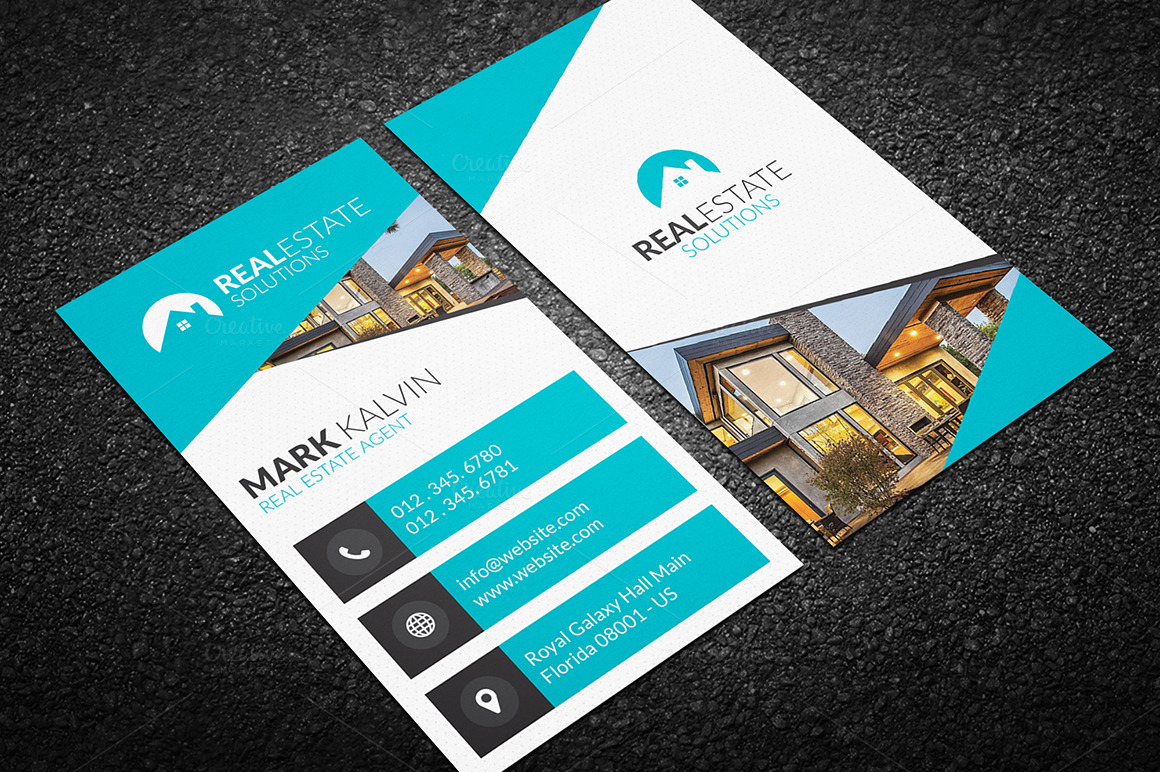 Real estate business card 47 business card templates on for Realty business cards