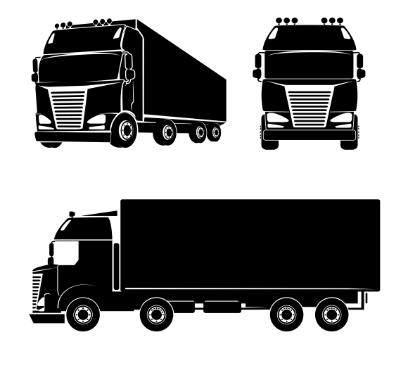 Vector cargo truck ~ Icons on Creative Market