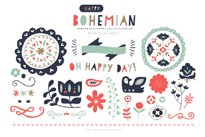 Happy Bohemian (Vector)