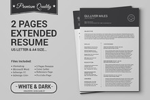 2 Pages Resume CV | Extended Pack