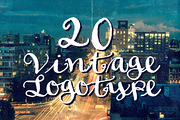 20 Vintage Logotype #4-Graphicriver中文最全的素材分享平台