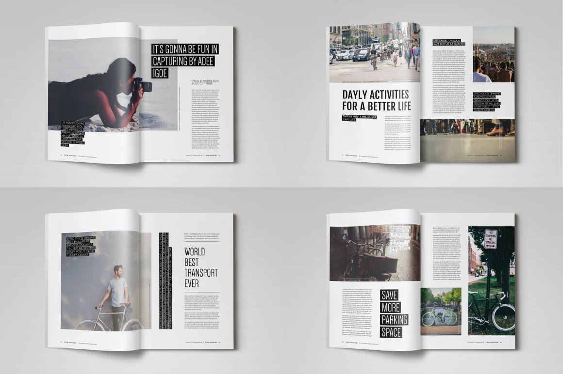 indesign magazine template magazine templates on creative market. Black Bedroom Furniture Sets. Home Design Ideas