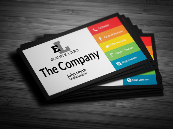 Colorful Personal Business Card Business Card Templates
