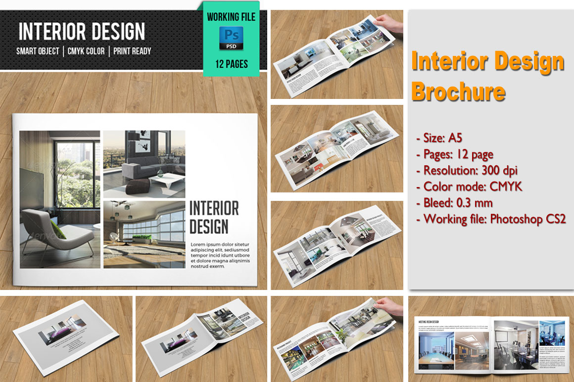 Interior design brochure v101 brochure templates on for Interior design brochures