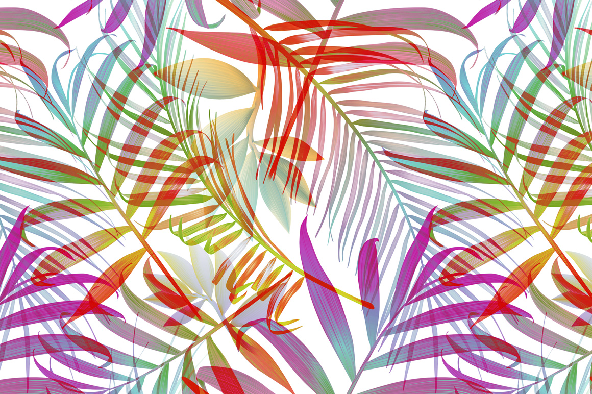 Aninimal Book: Tropical pattern. Jungle palm leaves ~ Patterns on ...