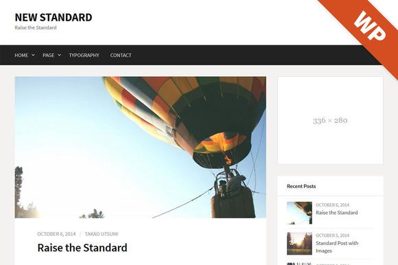 New Standard - WordPress Theme - Blog