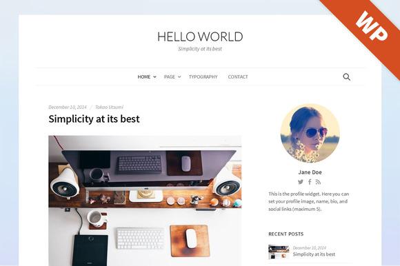 Hello World - WordPress Theme - Blog