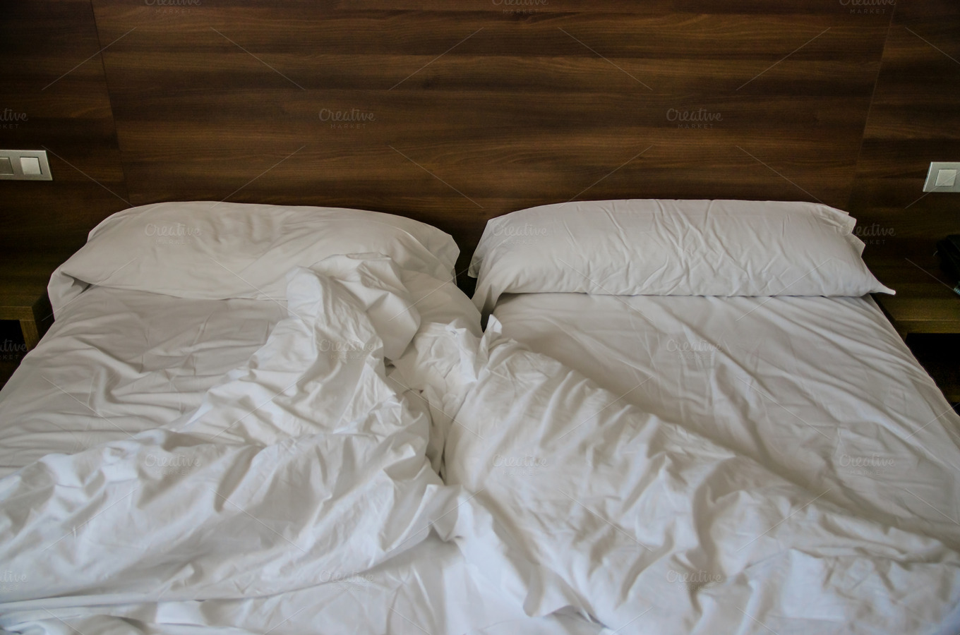 Empty Messy Bed Abstract Photos On Creative Market