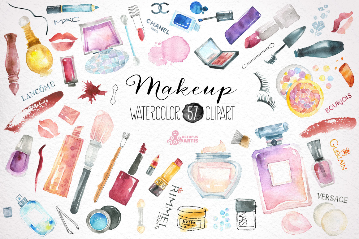 makeup amp cosmetics clipart illustrations on creative market