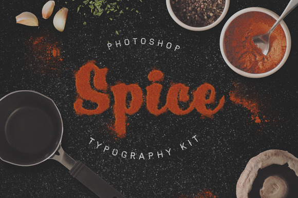 CM - Food Typography PSD Actions
