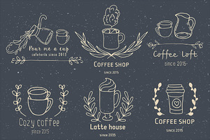 Handdrawn coffee shop logo creator
