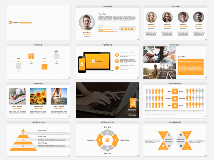 keynote brochure template - montero powerpoint template presentation templates on
