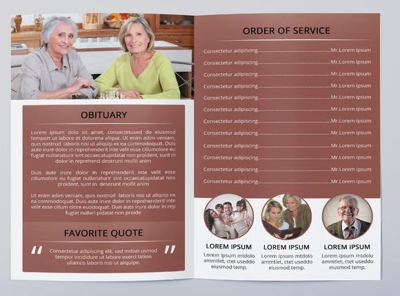 Funeral program brochure