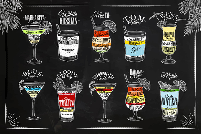 Cocktails Graphics Objects On Creative Market