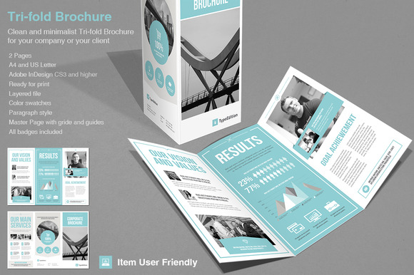 Tri fold corporate brochure templates on creative market for Adobe indesign tri fold brochure template