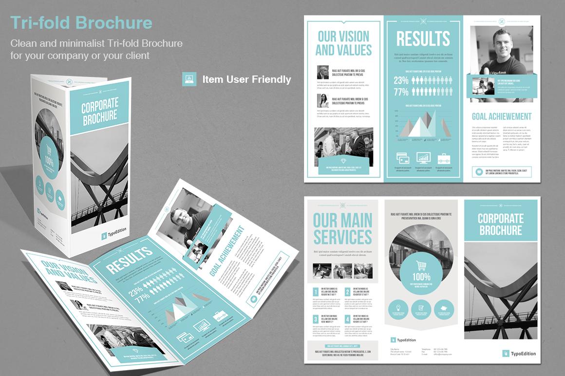 corporate tri fold brochure template - tri fold corporate brochure templates on creative market