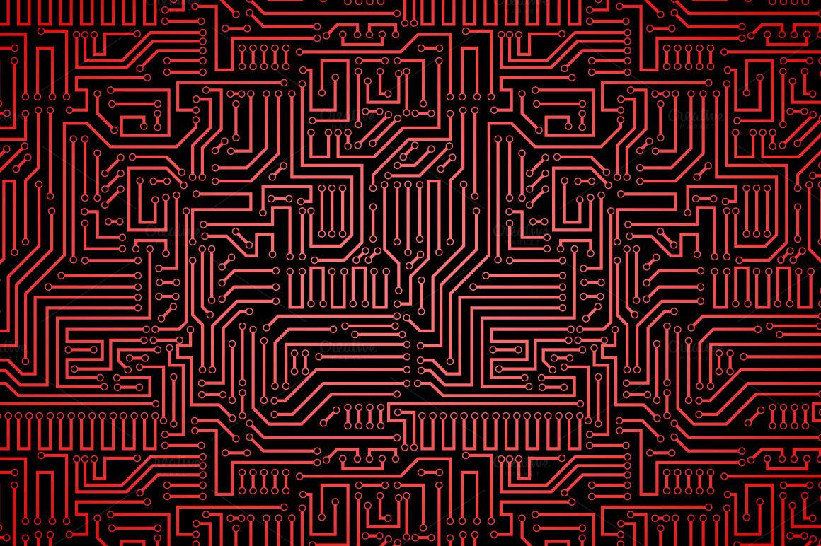 Circuit board seamless patterns set ~ Patterns on Creative Market