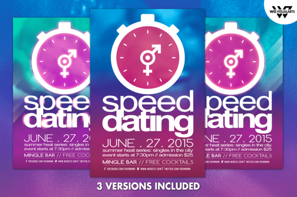 speed dating match cards template
