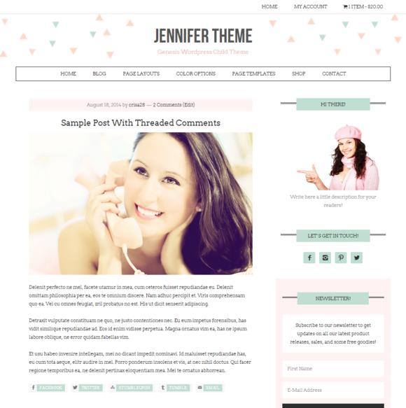Ecommerce Feminine Genesis Theme Jen