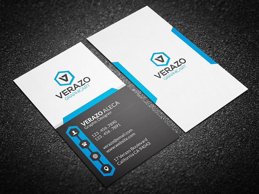 Creative Vertical Business Card Business Card Templates