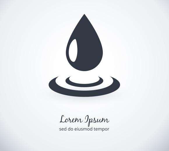 Water drop logo ~ Logo Templates on Creative Market