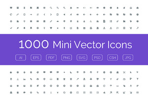 1000 Mini Vector Icons