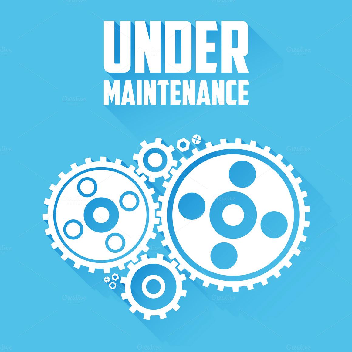 under maintenance page message web elements on creative market. Black Bedroom Furniture Sets. Home Design Ideas