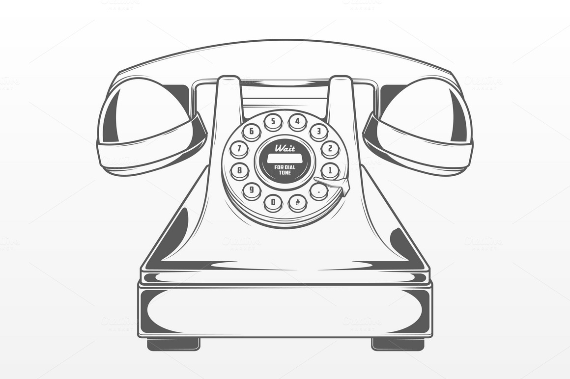 Vintage Red Phone Objects On Creative Market