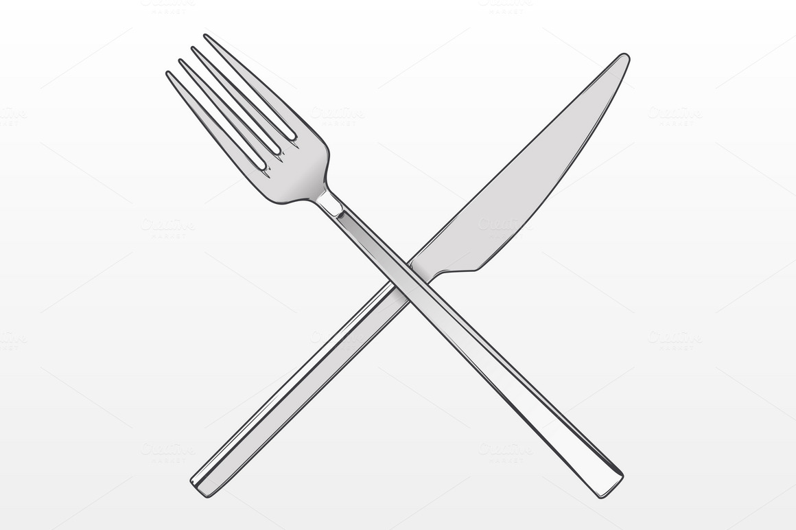 how to eat with a knife and fork