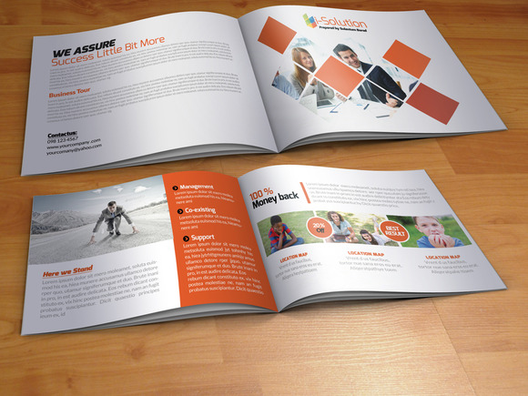 Elegant business bi fold brochure brochure templates on for Elegant brochure templates