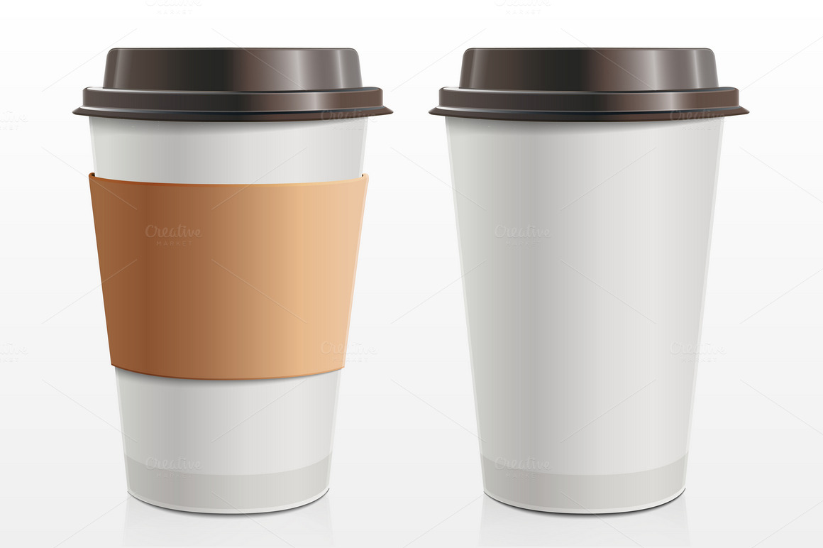 Paper Cup Product Mockups On Creative Market