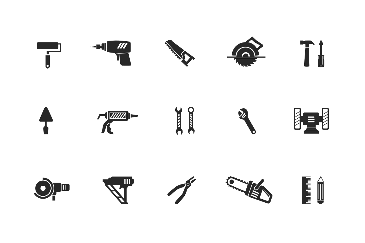 15 Construction and Building Icons ~ Icons on Creative Market