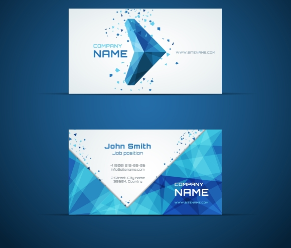 blue arrow business card template business card