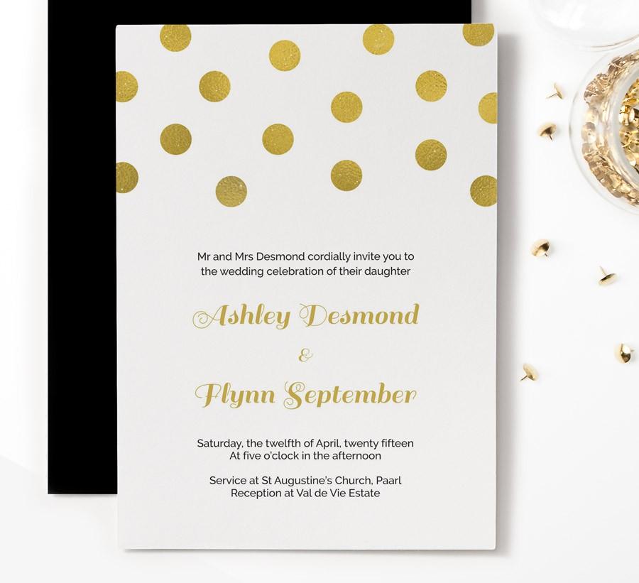 gold confetti wedding invitation invitation templates on. Black Bedroom Furniture Sets. Home Design Ideas