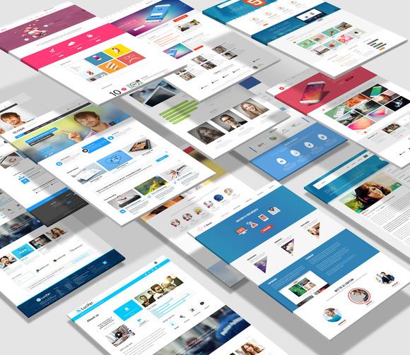 Website presentation mock up psd