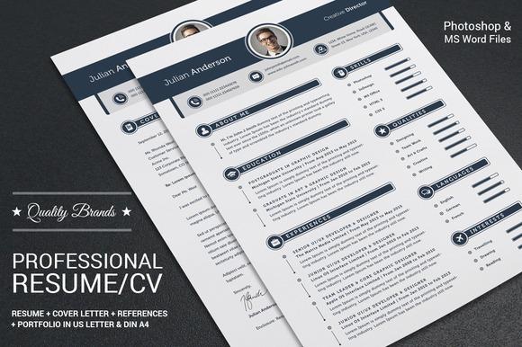 My Professional Resume CV Set - Resumes - 1