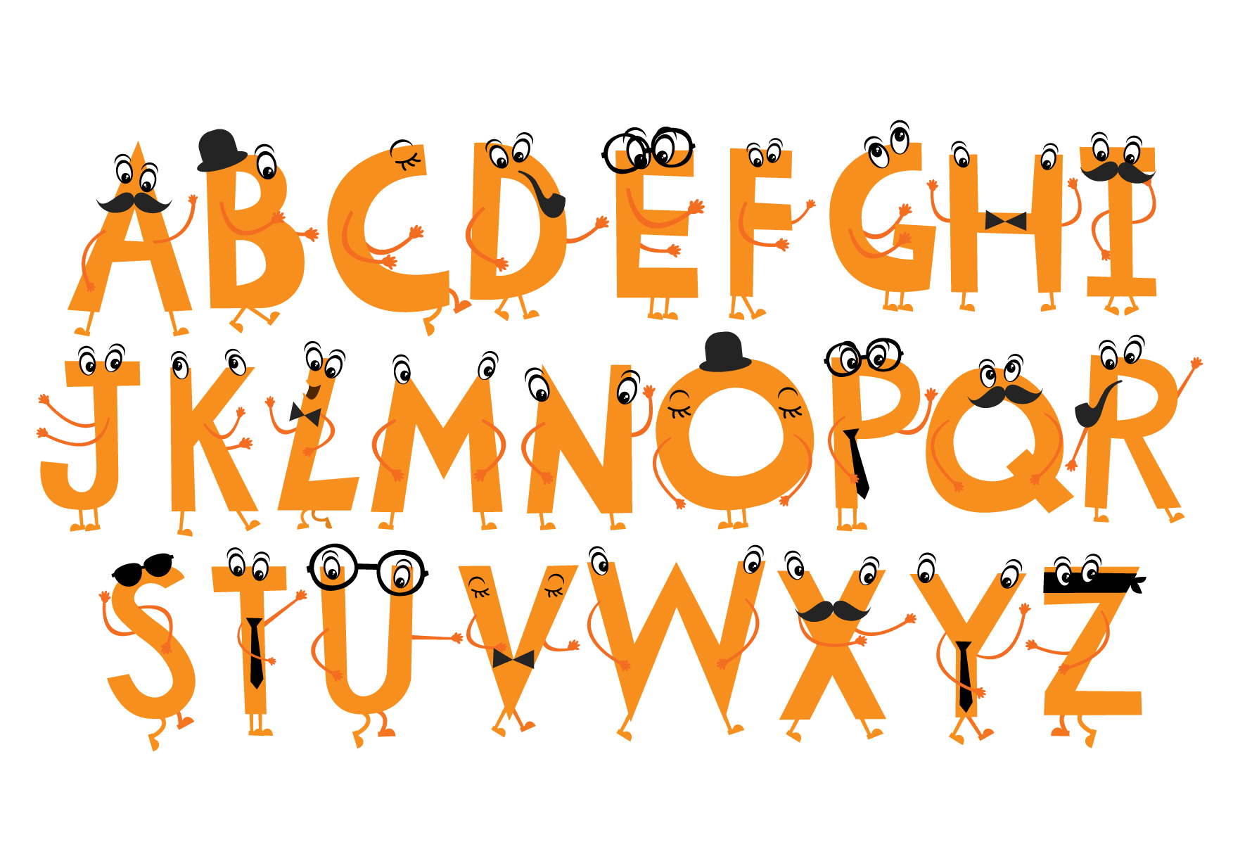 character font/typeface ~ Illustrations on Creative Market