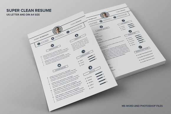 Super Clean Resume/CV - With MS Word - Resumes - 1