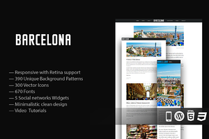 Barcelona Responsive WordPress Theme